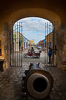 La Puerta de Tierra, the land door, part of the fortified wall of the city of Campeche a UNESCO World Heritage site, Campeche,  Mexico