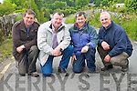 Flooding in Rathmore is increasingly becoming a problem for local residents who are left cut-off by flood waters regularly. .L-R Connie Doherty, Padraig McCarthy, Peter McCarthy and John McAuliffe. .
