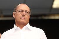 TABOAO DA SERRA, SP, 13.09.2013. ALCKMIN - ANUNCIO POUPATEMPO TABOAO. O governador de São Paulo, Geraldo Alckmin, durante anúncio da implantação da nova unidade do Poupatempo na cidade de Taboão da Serra. O Poupatempo é um programa do Governo do Estado, coordenado pela Secretaria de Gestão Pública que, desde a inauguração do primeiro posto, em 1997, já prestou mais de 366 milhões de atendimentos. Atualmente conta com 32 unidades instaladas na capital, Grande São Paulo, litoral e interior. (Foto: Adriana Spaca/Brazil Photo Press)