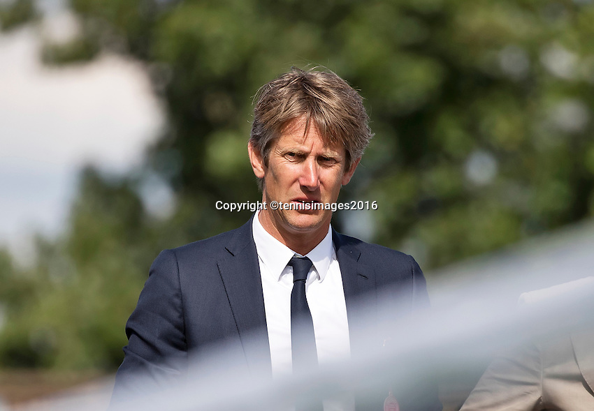 London, England, 27 june, 2016, Tennis, Wimbledon,  Edwin van de Sar as spectator by Haase's Match<br /> Photo: Henk Koster/tennisimages.com