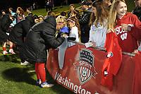 Boyds, MD - Saturday May 6, 2017: Washington Spirit fans during a regular season National Women's Soccer League (NWSL) match between the Washington Spirit and Sky Blue FC at Maureen Hendricks Field, Maryland SoccerPlex.