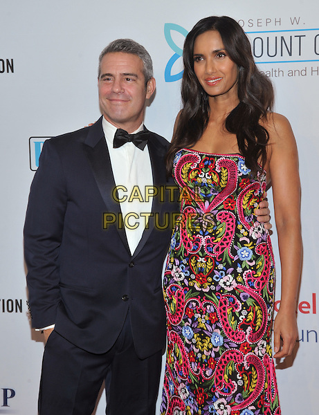 New York,NY-November 2: Andy Cohen, Padma Lakshmi attend Elton John AIDS Foundation's 14th Annual An Enduring Vision Benefit at Cipriani Wall Street on November 2, 2015 in New York City.. <br /> CAP/MPI/STV<br /> &copy;STV/MPI/Capital Pictures