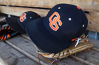 Oregon State Beavers hat before Game 5 of the 2013 Men's College World Series on June 17, 2013 at TD Ameritrade Park in Omaha, Nebraska. (Andrew Woolley/Four Seam Images)