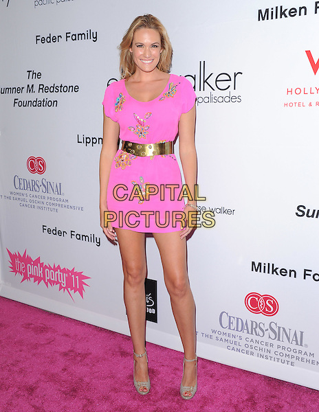 Ashlan Gorse .attends The 7th Annual Pink Party held at Drai's Hollywood in Hollywood, California, USA, September 10th 2011.   .full length dress mini gold belt  french connection beaded                            .CAP/RKE/DVS.©DVS/RockinExposures/Capital Pictures.