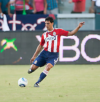 CARSON, CA – SEPTEMBER 19: Chivas USA defender Michael Umana (4) during a soccer match at Home Depot Center, September 19, 2010 in Carson California. Final score Chivas USA 0, Kansas City Wizards 2.
