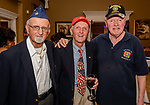 """WATERBURY, CT. 23 May 2018-052318BS93 -From left, Tony Jaffer of Waterbury, Whitey Zyko of Middlebury, and Eddi Zyko of Middlebury enjoy themselves at the Waterbury Veterans Committee's """"Support Our Troops"""" Annual Dinner at the Ponte Club on Wednesday evening. Bill Shettle Republican-American"""