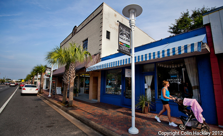 Strolling the shops on downtown Fort Walton Beach's Miracle Strip Parkway...COLIN HACKLEY PHOTO