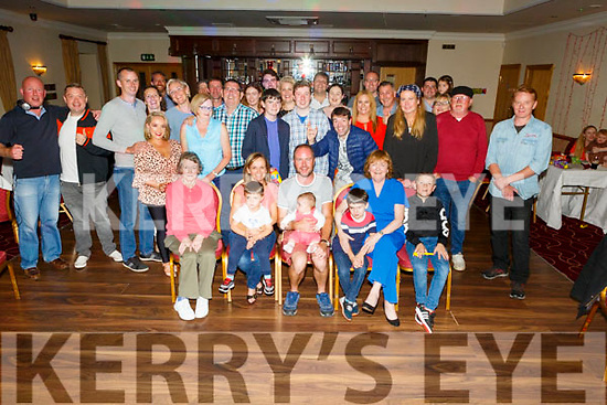 Simon Hickey from Tralee celebrating his 40th birthday in Kerins O'Rahillys on Saturday night.<br /> Seated l to r: Agnus Keogh, Delbhine, Tristan, Fiona, Simon, Cillian and Theresa Hickey and Alfie Webb.