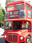 Red Double Decker Bus, Trafalgar Square, London, UK
