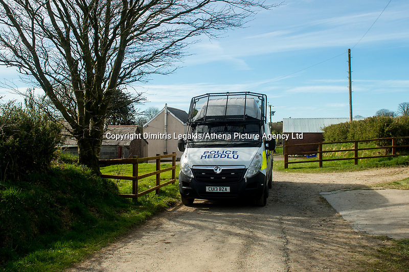 Sunday 26 March 2017<br /> Pictured: Views of the  property in Carmarthenshire  <br /> Re: The mother of terrorist killer Khalid Masood is being guarded by police in case of reprisals over the Westminster attack by her estranged son.<br /> Police officers are stationed outside the home of Janet Ajao, 69, in the quiet country village of Trelech, Carmarthenshire, than 200 miles away from the scene of her son's terror attack.