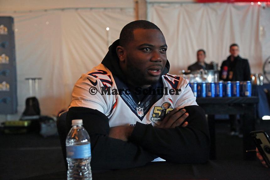 RB C.J. Anderson (Broncos) - Super Bowl 50 Denver Broncos PK, Marriott Santa Clara