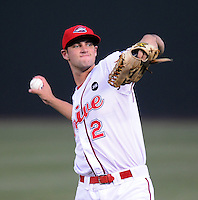 August 27, 2009: Infielder Alex Hassan (2) of the Greenville Drive, 2009 20th round draft pick of the Boston Red Sox out of Duke University, in a game at Fluor Field at the West End in Greenville, S.C. Photo by: Tom Priddy/Four Seam Images