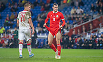 Cardiff - UK - 9th September :<br />Wales v Belarus Friendly match at Cardiff City Stadium.<br />Gareth Bale of Wales adjusts his shorts in the second half.<br />Editorial use only