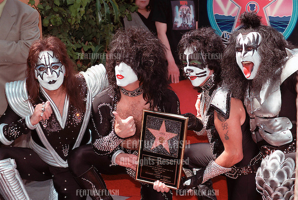 11AUG99: Rock group KISS, on Hollywood Blvd where they were honoured with the 2,142nd star on the Hollywood Walk of Fame..© Paul Smith / Featureflash