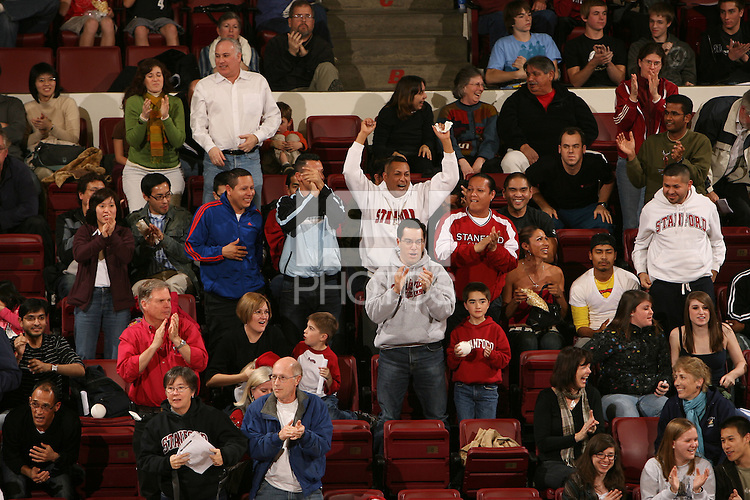 STANFORD, CA - JANUARY 30:  Fans of the Stanford Cardinal during Stanford's 3-2 win over the Long Beach State 49ers on January 30, 2009 at Maples Pavilion in Stanford, California.