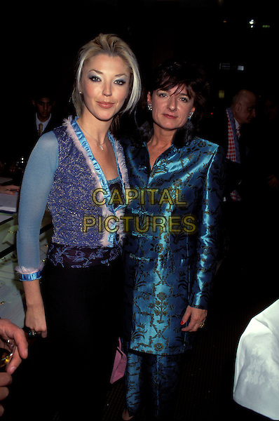TAMARA BECKWITH & ROSA MONKTON.Ref:8028PL.blue vest top, blue silk jacket, asian, eastern half length.sales@capitalpictures.com.www.capitalpictures.com.©Capital Pictures.