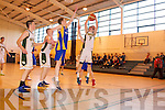 Cian Sayers Mounthawk v Castleisland in the U-19 Munster Basketball final in Monthawk Gym on Monday.