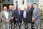 Pictured attending the Business briefing on the Stability Treaty in the Dromhall Hotel, Killarney, on Friday from left: Des O?Neill (Milltown), Cllr Tim O?Leary (Listowel), Tim Nelligan (Castleisland), Paul Coghlan (Killarney), Francie Brosnan (Castleisland), Cllr Denis Stack (Listowel) and Brendan Griffin TD..
