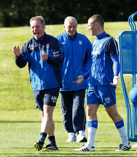 Ally McCoist joking with Kenny Miller