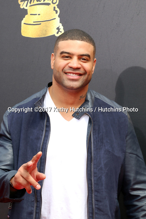 LOS ANGELES - MAY 7:  Shawne Merriman at the MTV Movie and Television Awards on the Shrine Auditorium on May 7, 2017 in Los Angeles, CA