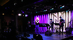 Sophia Anne Caruso with band during Broadway's 'Beetlejuice' - First Look Presentation at Subculture  on February 28, 2019 in New York City.