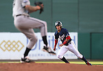 Reno Aces' Ronny Cedeno runs the bases in a game against the Omaha Storm Chasers, in Reno, Nev., on Sunday, Aug. 24, 2014.<br /> Photo by Cathleen Allison