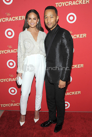 NEW YORK, NY - DECEMBER 07: Chrissy Teigen and John Legend attends as Target Presents 'The Toycracker' Premiere Event at Spring Studios on December 7, 2016 in New York City. Photo by John Palmer/MediaPunch