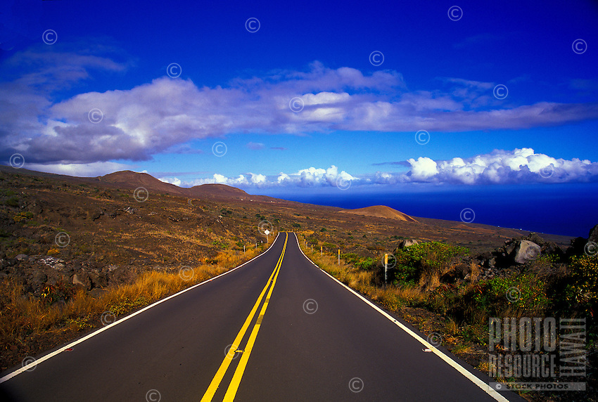 """The """"""""other"""""""" Road to Hana, Maui's Piilani Hwy starts at the edge of Upcountry and stretches across the sunburned and untamed, southern, lava-encrusted flanks of dormant Haleakala volcano."""