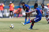 Bradenton, FL - Sunday, June 12, 2018: Melchie Dumonay prior to a U-17 Women's Championship 3rd place match between Canada and Haiti at IMG Academy. Canada defeated Haiti 2-1.
