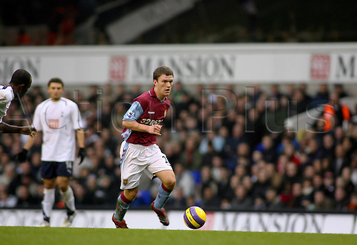 26 December 2006: Aston Villa midfielder Craig Gardner with the ball during the Premiership game between Tottenham Hotspur and Aston Villa, played at White Hart Lane. Tottenham won the match 2-1. Photo: Actionplus....061226 football soccer player