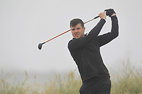 Adam Mulhall (Ardglass) on the 1st tee during Round 1 - Matchplay of the North of Ireland Championship at Royal Portrush Golf Club, Portrush, Co. Antrim on Wednesday 11th July 2018.<br /> Picture:  Thos Caffrey / Golffile