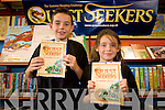 Brother and sister, Tom and Sarah Hoare who are setting off on a reading adventure this summer with Questseekers reading iniatitive