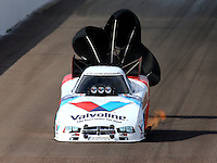 Feb 21, 2014; Chandler, AZ, USA; NHRA funny car driver Jack Beckman during qualifying for the Carquest Auto Parts Nationals at Wild Horse Pass Motorsports Park. Mandatory Credit: Mark J. Rebilas-USA TODAY Sports