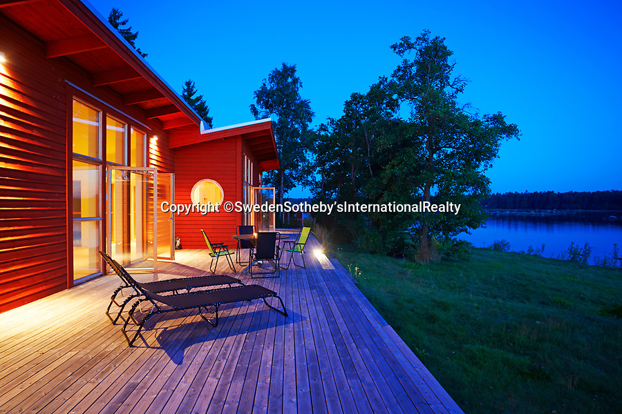 BNPS.co.uk (01202 558833)<br /> Pic: SwedenSotheby's/BNPS<br /> <br /> A stunning private Swedish island has emerged on to the market for £1.2million ($1.4m) -  the same price as a terraced house in London.<br /> <br /> Gasharsskaret is a 0.27 acre island with flat rock cliffs, sandy beaches and open grassy areas. It is located about 100 yards from the Swedish mainland in the Soderhamn archipelago on the east coast of the country.<br /> <br /> A cluster of cabins have been built on the island, including a main house, a guest house, a beach house and a sauna. It also boasts a wooden hot tub and a landing area for a helicopter.<br /> <br /> The estate agent, Sothebys Realty, say it would be the ideal setting for a large family and could be used for 'retreats and conferences'.