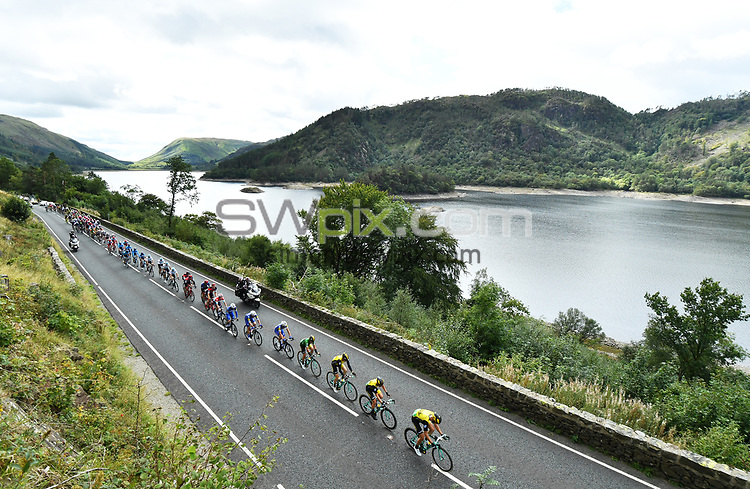 Picture by Simon Wilkinson/SWpix.com - 07/09/2018 - Cycling - OVO Energy Tour of Britain 2018 -  Stage 6 Barrow to Whinlatter Pass - The peloton passes Lake Thirlmere