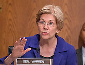 "United States Senator Elizabeth Warren (Democrat of Massachusetts) listens as US Secretary of Education Dr. John King testifies before the US Senate Committee on Health, Education, Labor & Pensions hearing on ""ESSA Implementation: Update from the U.S. Secretary of Education on Proposed Regulations"" on Capitol Hill in Washington, DC on Wednesday, June 29, 2016.<br /> Credit: Ron Sachs / CNP"
