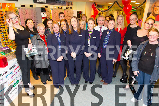 Customers and staff enjoying the Festive Fun at Specsavers Tralee on Thursday