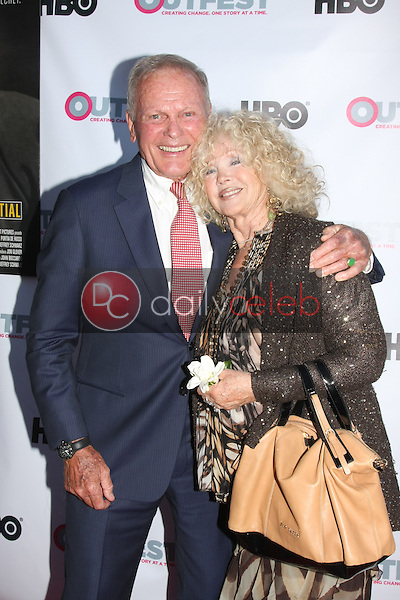 Tab Hunter, Connie Stevens<br /> at the &quot;Tab Hunter Confidential&quot; at Outfest, DGA Theater, Los Angeles, CA 07-11-15<br /> David Edwards/DailyCeleb.com 818-249-4998