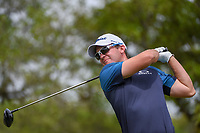 Ryan Blaum (USA) watches his tee shot on 2 during day 2 of the Valero Texas Open, at the TPC San Antonio Oaks Course, San Antonio, Texas, USA. 4/5/2019.<br /> Picture: Golffile | Ken Murray<br /> <br /> <br /> All photo usage must carry mandatory copyright credit (&copy; Golffile | Ken Murray)