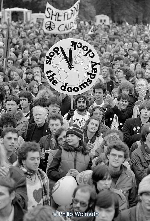 CND demonstration, Hyde Park, London, 1981.