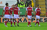 Rotherham United's Jamie Proctor celebrates scoring the opening goal <br /> <br /> Photographer Andrew Vaughan/CameraSport<br /> <br /> The Carabao Cup First Round - Rotherham United v Lincoln City - Tuesday 8th August 2017 - New York Stadium - Rotherham<br />  <br /> World Copyright &copy; 2017 CameraSport. All rights reserved. 43 Linden Ave. Countesthorpe. Leicester. England. LE8 5PG - Tel: +44 (0) 116 277 4147 - admin@camerasport.com - www.camerasport.com