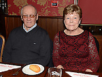 Jim and Gert Kearns pictured at the Collon Senior Citizens Christmas party in Watter's. Photo:Colin Bell/pressphotos.ie