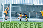 WKerry's Seam Micheal O'Connor and Stacks Sean Ryan  at the Austin Stacks V West Kerry in the Garveys Supervalu Senior CountyFootball Championship - round 3 at Austin Stacks park on Saturday
