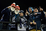 GREENSBORO, NC - DECEMBER 02: Messiah College fans cheer during the Division III Men's Soccer Championship held at UNC Greensboro Soccer Stadium on December 2, 2017 in Greensboro, North Carolina. Messiah College defeated North Park University 2-1 to win the national title. (Photo by Grant Halverson/NCAA Photos via Getty Images)