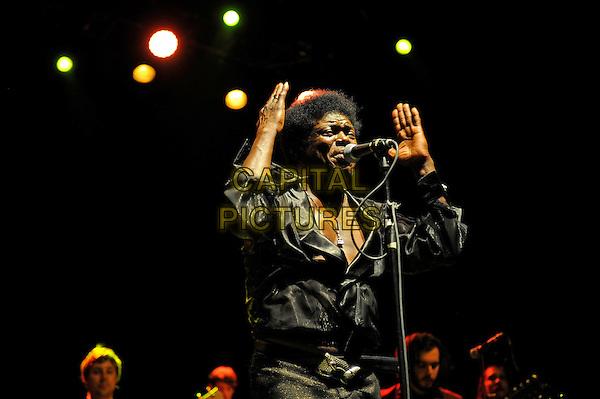 LONDON, UK, JUNE 27: Charles Bradley performing as part of the Daptone Records Super Soul Revue concert at Shepherd's Bush Empire on June 27th 2014.<br /> CAP/MAR<br /> &copy; Martin Harris/Capital Pictures