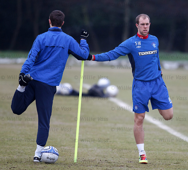 Steven Whittaker at training
