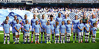 20190907 – MANCHESTER, ENGLAND: Manchester City players Georgia Stanway,  Keira Walsh, Tessa Wullaert,  Caroline Weir, Janine Beckie, Demi Stokes, Jill Scott, Gemma Bonner, Aoife Mannion, Ellie Roebuck and Steph Houghton are pictured before the match between Manchester City Women and Manchester United Women, first game for both of the teams in the the Barclays FA Women's Super League , Saturday  7th September 2019 at the Ethiad Stadium, Manchester. PHOTO SPORTPIX.BE | Sevil Oktem