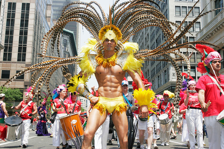 Homosexuals of all stripes (and some pandering politicians) gather in New York City for the Gay Pride parade on June 26, 2005.  It is the 35th straight year the parade has taken place, although before 1984 the gathering was known as the Gay Liberation March.