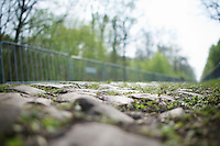 the cobbles of sector 18: Pavé de la Trouée d'Arenberg are ready<br /> <br /> 2014 Paris-Roubaix reconnaissance
