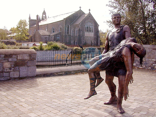 The statue which has been erected beside the River Dee in Ardee, Co. Louth..Picture: Paul Mohan/Newsfile